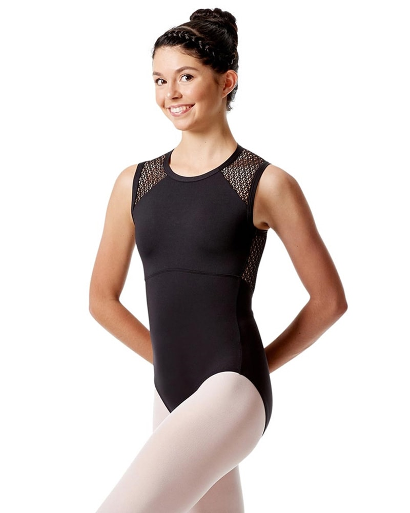 Lulli Dancewear Caterina Mesh Keyhole Back Tank Leotard - LUF530 Womens - Dancewear - Bodysuits & Leotards - Dancewear Centre Canada