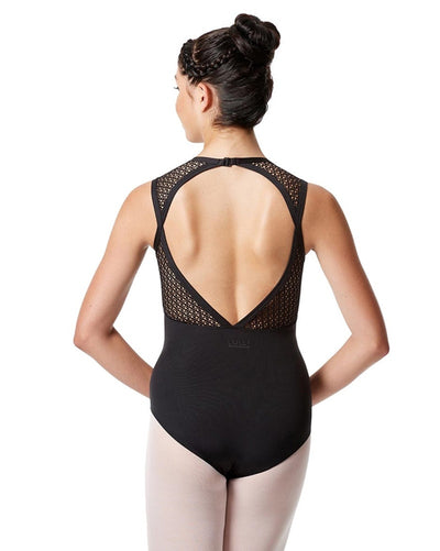 Lulli Dancewear Caterina LUF530 - Mesh Keyhole Back Tank Leotard Womens - Dancewear - Bodysuits & Leotards - Dancewear Centre Canada