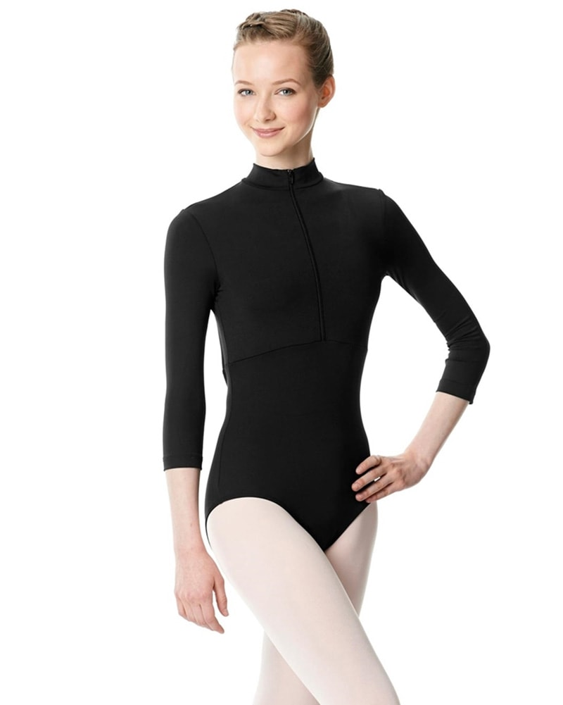 Lulli Dancewear Eliana Open Back Zip Front Turtleneck 3/4 Sleeve Leotard - LUB252 Womens - Dancewear - Bodysuits & Leotards - Dancewear Centre Canada