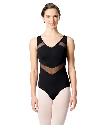 Lulli Dancewear Giovanna LUF551 - Mesh Cut Out Keyhole Back Tank Leotard Womens - Dancewear - Bodysuits & Leotards - Dancewear Centre Canada