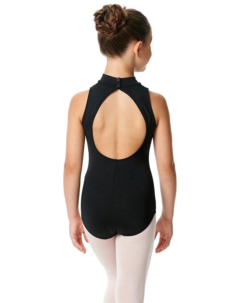 Lulli Dancewear Penelope Turtleneck Open Back Sleeveless Leotard - LUB226C Girls