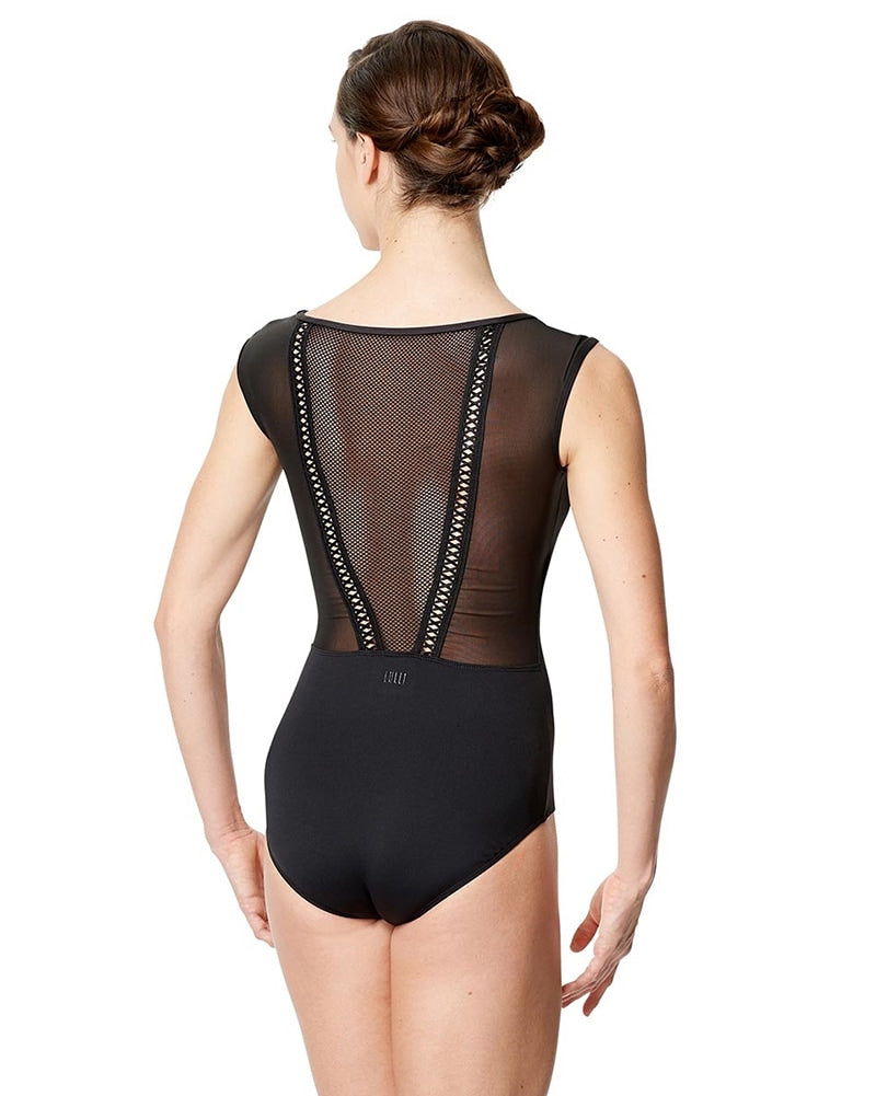 Lulli Dancewear Priscila Mesh Netting Back Cap Sleeve Leotard - LUF593 Womens - Dancewear - Bodysuits & Leotards - Dancewear Centre Canada