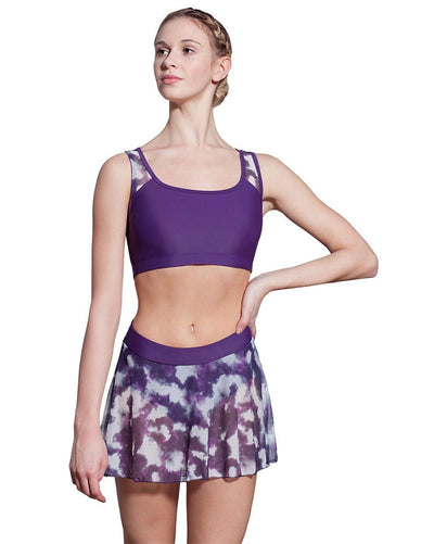 Lulli Dancewear River LUF455 - Tie Dye Mesh Cut Out Bra Top Womens - Dancewear - Tops - Dancewear Centre Canada