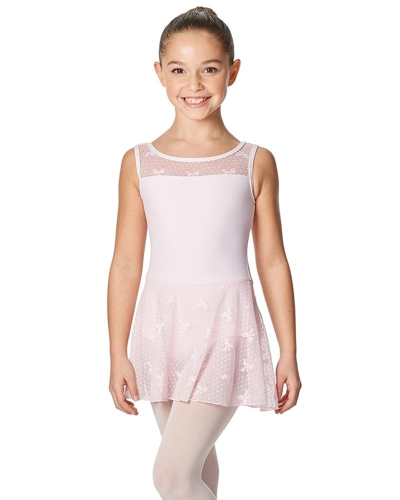 Lulli Dancewear Rosalie Ribbon Mesh Ballet Dress - LUF477C Girls - Dancewear - Dresses - Dancewear Centre Canada