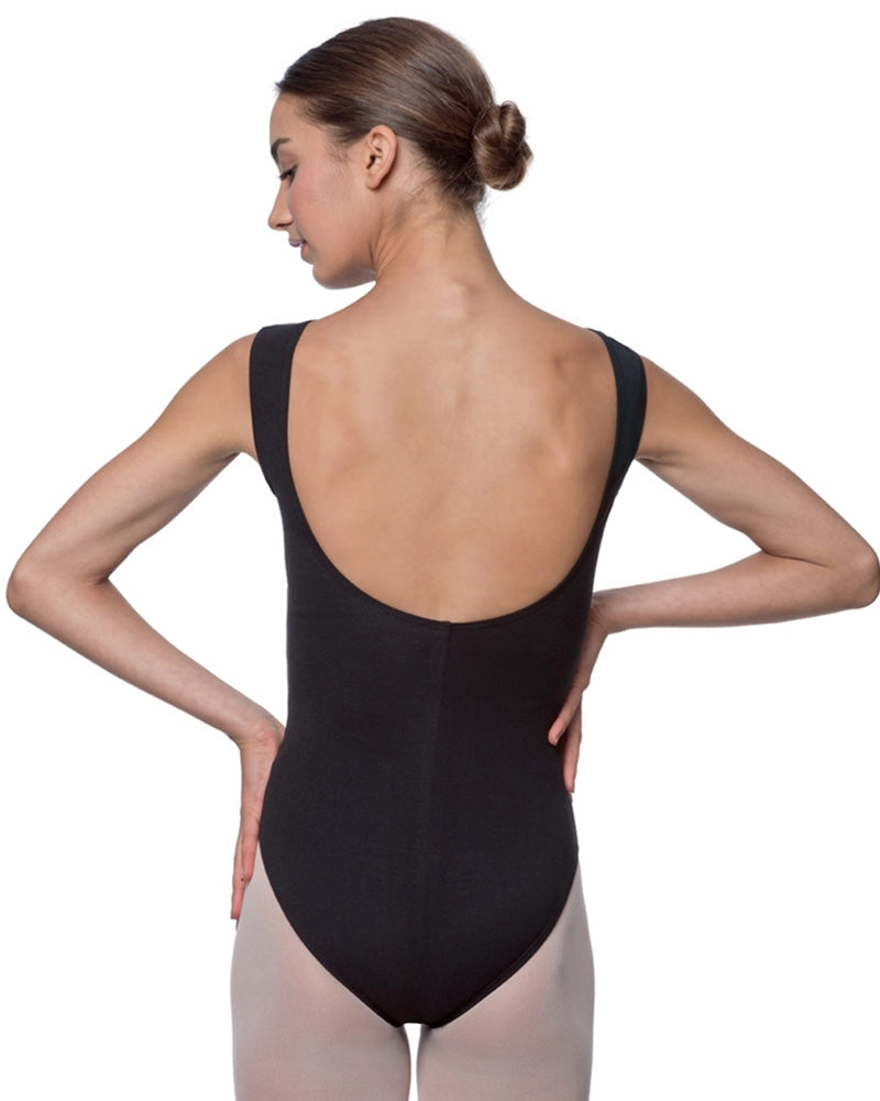 Lulli Dancewear Sabina High Neck Cotton Tank Leotard - LUB213 Womens