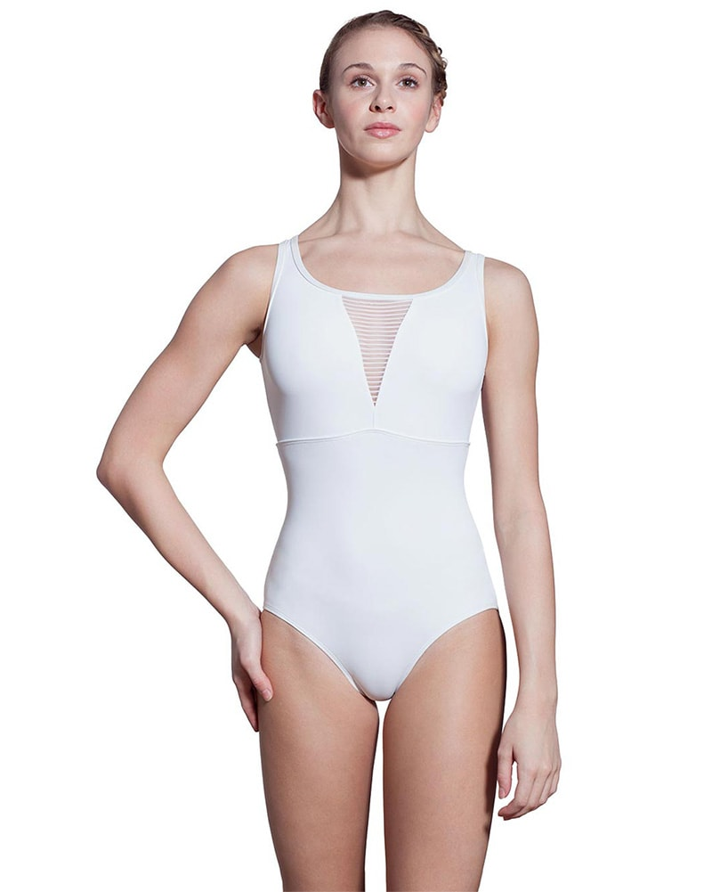 Lulli Dancewear Stephanie Striped Mesh Triangle Cutout Sleeveless Leotard - LUF442 Womens - Dancewear - Bodysuits & Leotards - Dancewear Centre Canada
