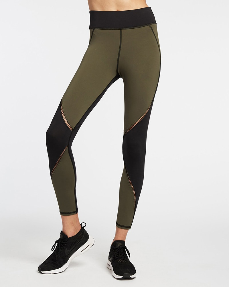 Michi Axial Legging - Womens - Olive/Black - Activewear - Bottoms - Dancewear Centre Canada