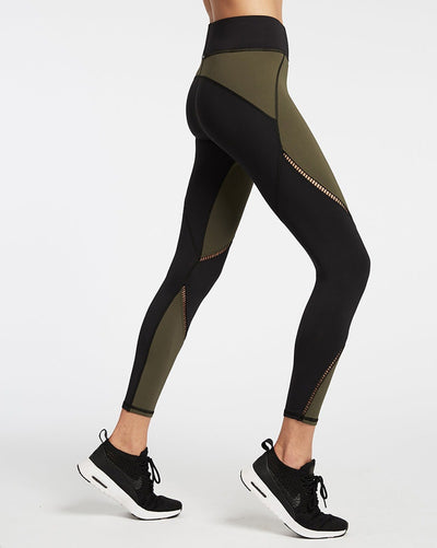 Michi - Axial Legging Olive W/Black Womens - Activewear - Bottoms - Dancewear Centre Canada