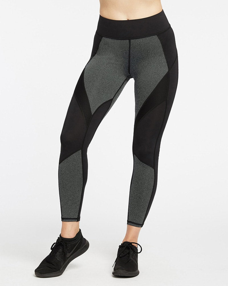 Michi Extension Legging - Womens - Grey/Black - Activewear - Bottoms - Dancewear Centre Canada