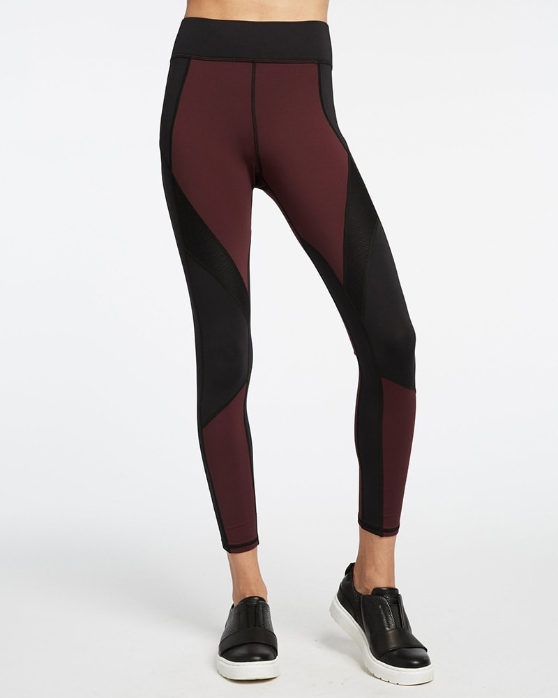 Michi Extension Legging - Womens - Mulberry/Black - Activewear - Bottoms - Dancewear Centre Canada