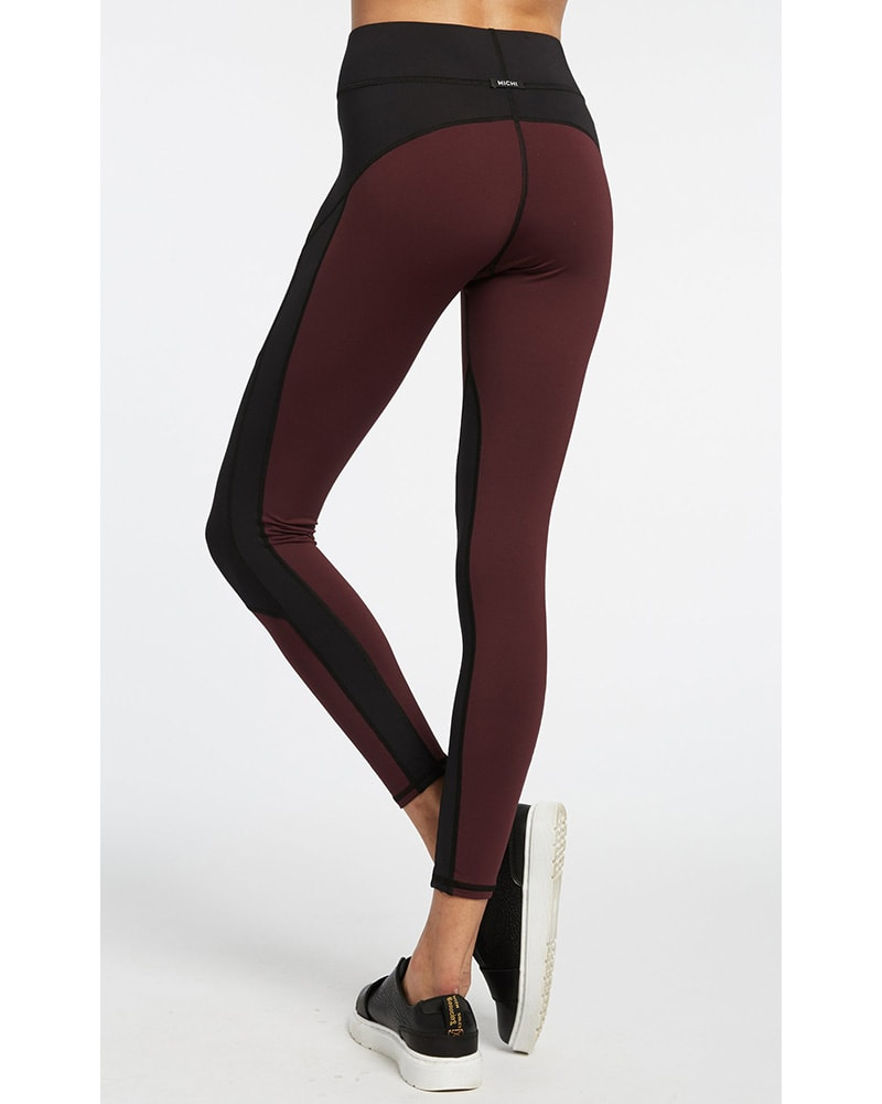 Michi - Extension Legging Mulberry/Black Womens