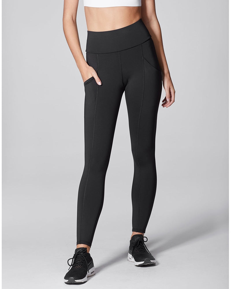 Michi Fusion High Waisted Pocket Legging - Womens - Black - Activewear - Bottoms - Dancewear Centre Canada
