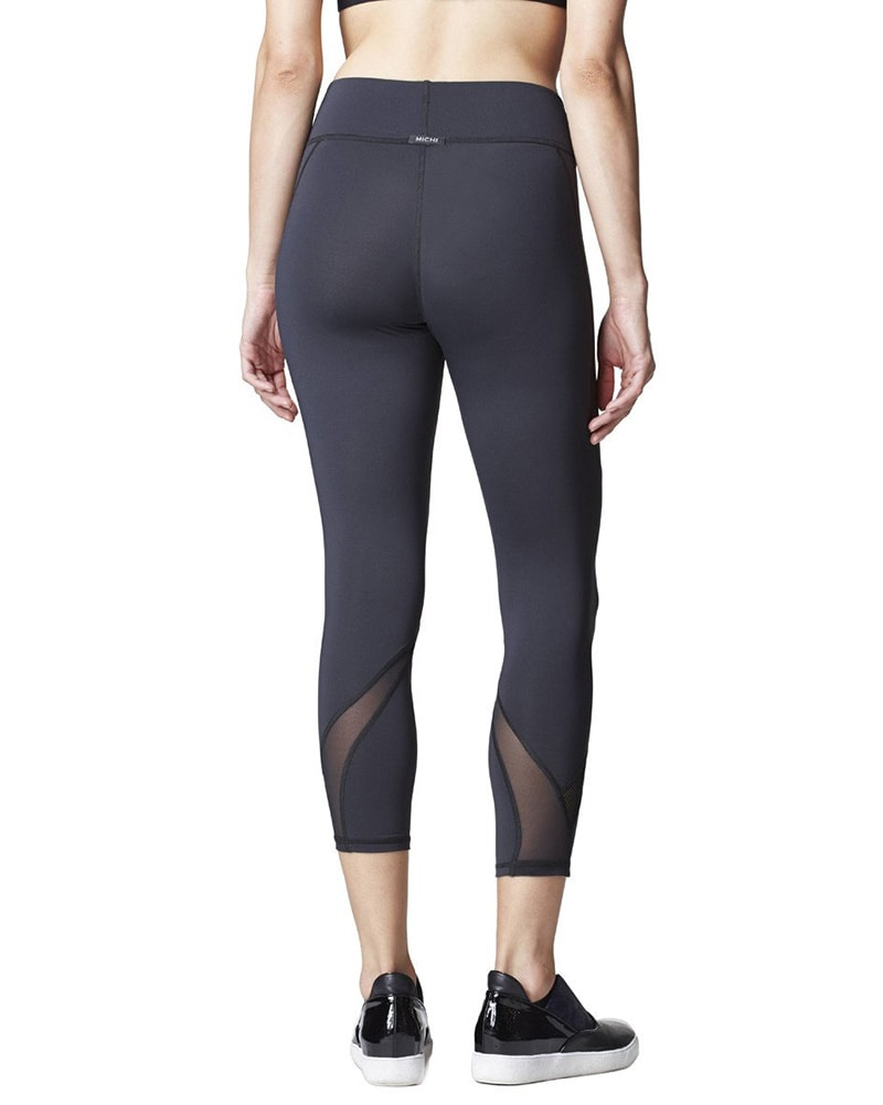 Michi Hydra Crop Legging - Womens - Black - Activewear - Bottoms - Dancewear Centre Canada