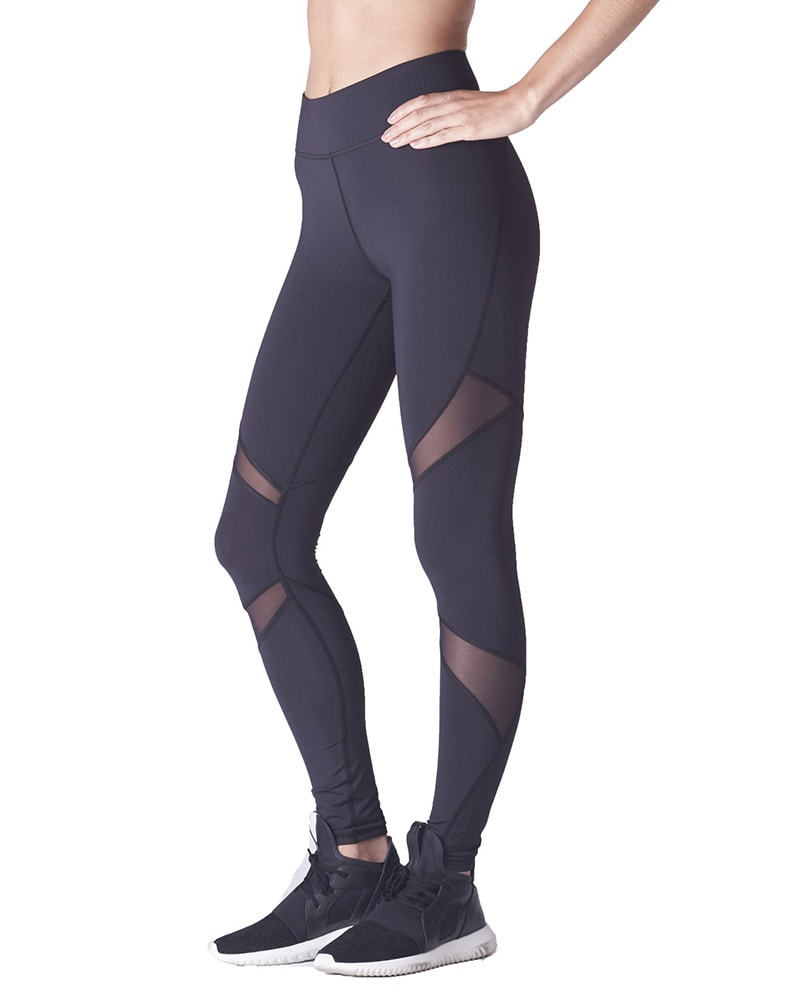 Michi Pulsar Mesh Legging - Womens - Black