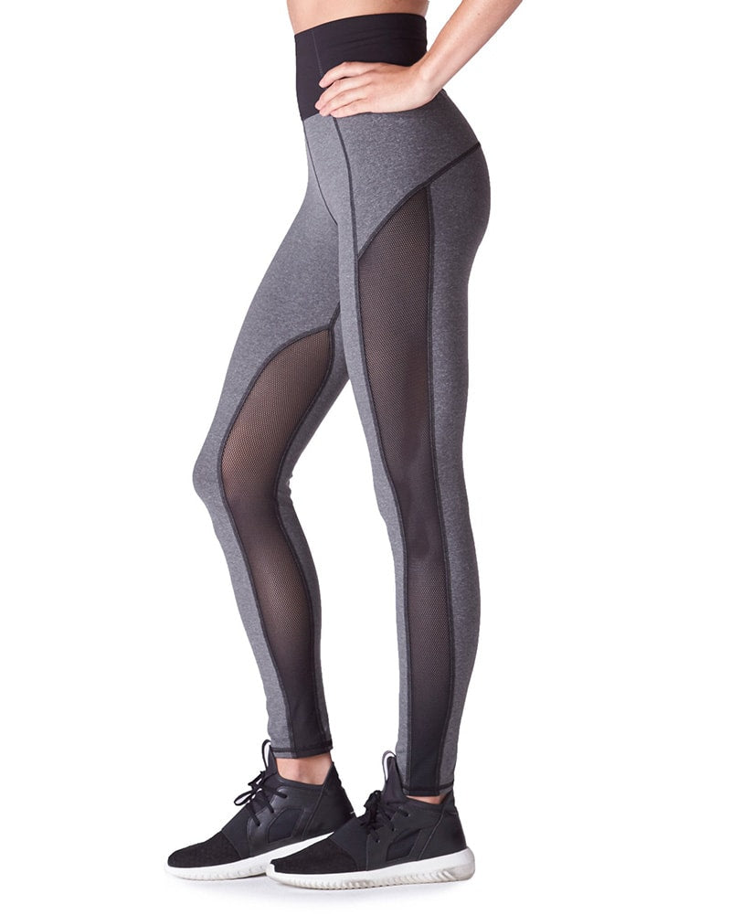 Michi Summit High Waisted Legging - Womens - Light Heather Grey - Activewear - Bottoms - Dancewear Centre Canada