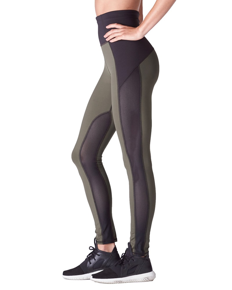 Michi Summit High Waisted Legging - Womens - Olive - Activewear - Bottoms - Dancewear Centre Canada