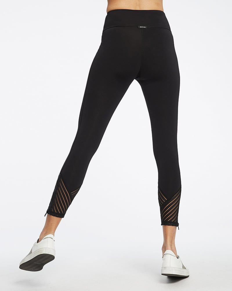 Michi Tectonic High Waisted Legging - Womens - Black - Activewear - Bottoms - Dancewear Centre Canada