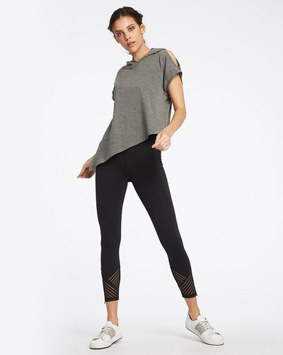 Michi - Tectonic High Waisted Legging Black Womens - Activewear - Bottoms - Dancewear Centre Canada