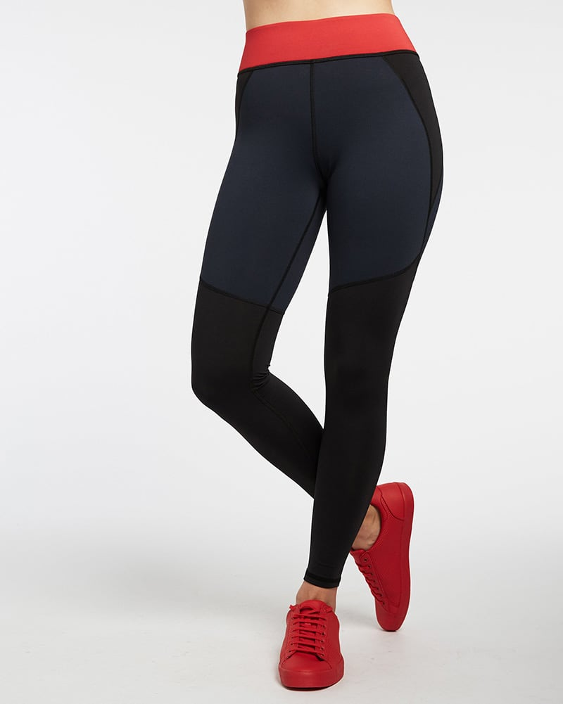 Michi Tidal Legging - Womens - Black/Deep Sea Navy