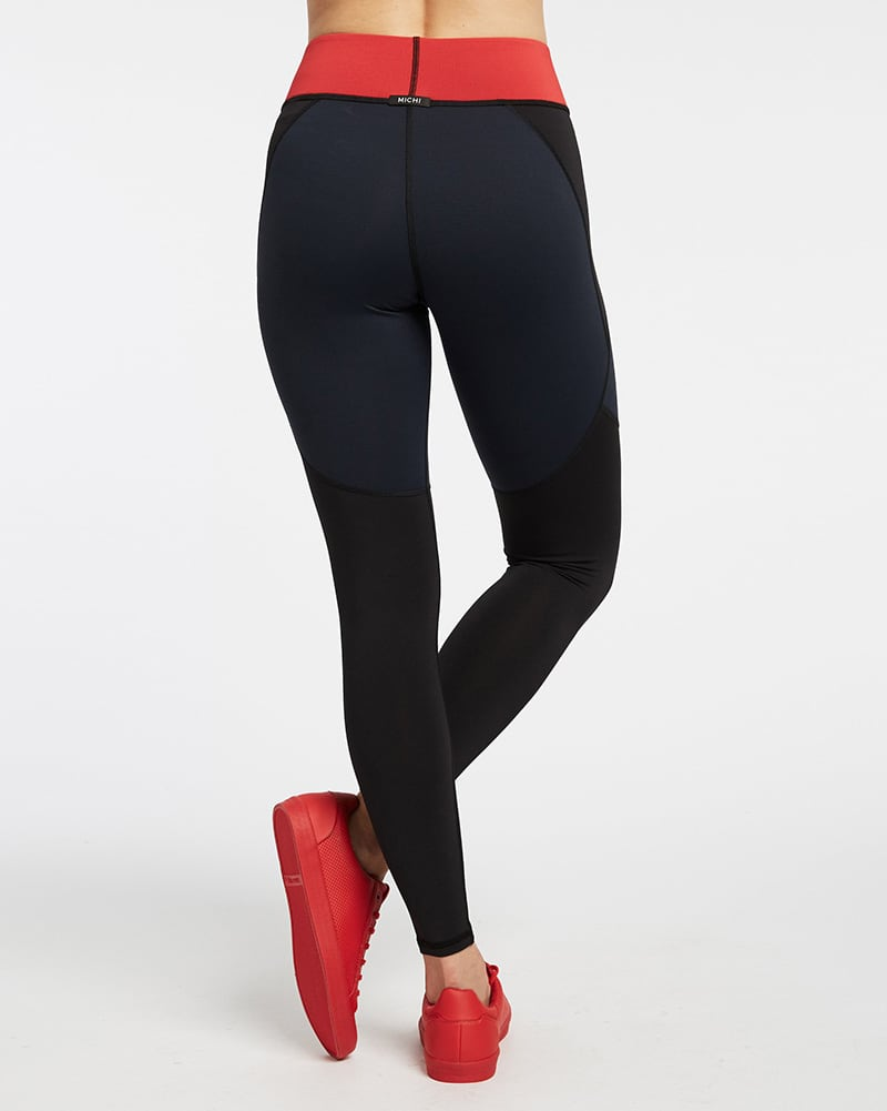 Michi - Tidal Legging Black/Deep Sea Navy Womens