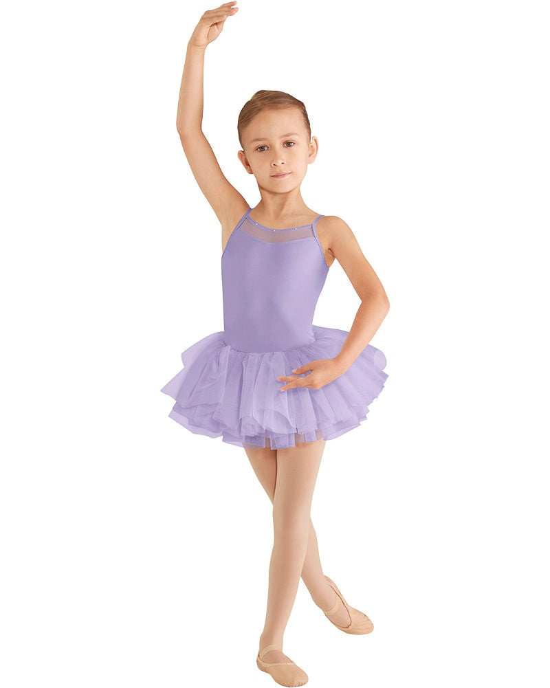 Mirella Mesh Back Yoke Camisole Tutu Ballet Dress - M409C Girls