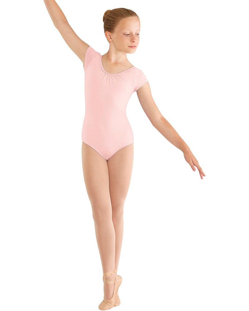 Mirella Three Bow Back Cap Sleeve Leotard - M414C Girls