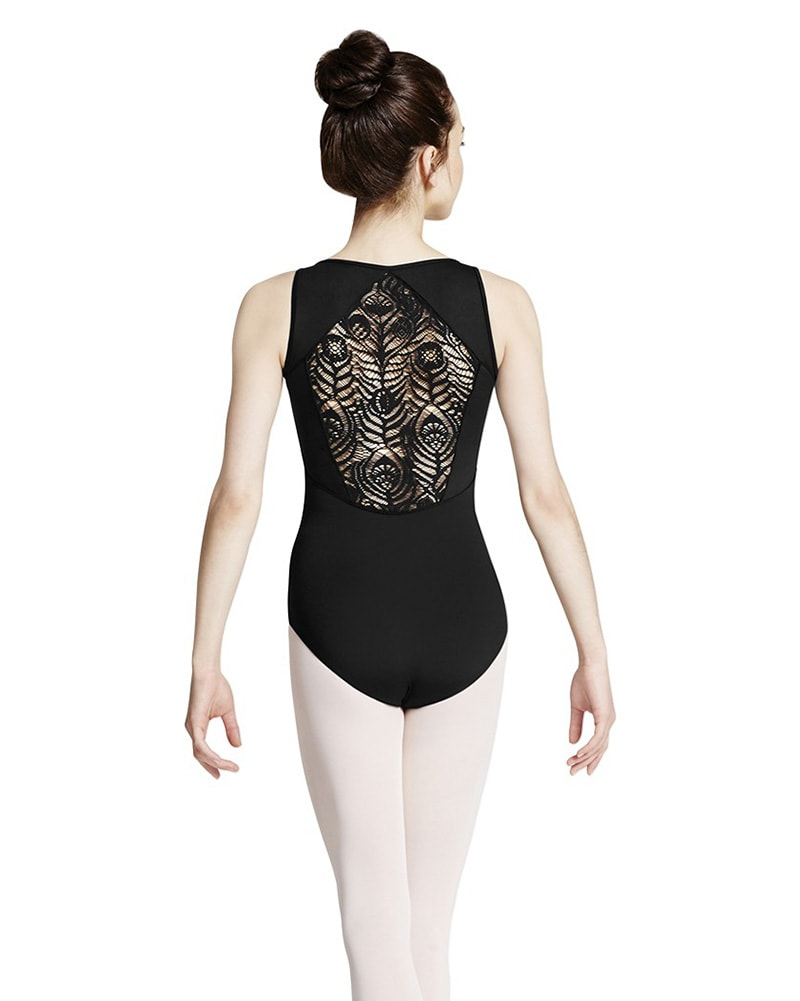 Mirella M3042LM - Peacock Plume Diamond Back Tank Leotard Womens