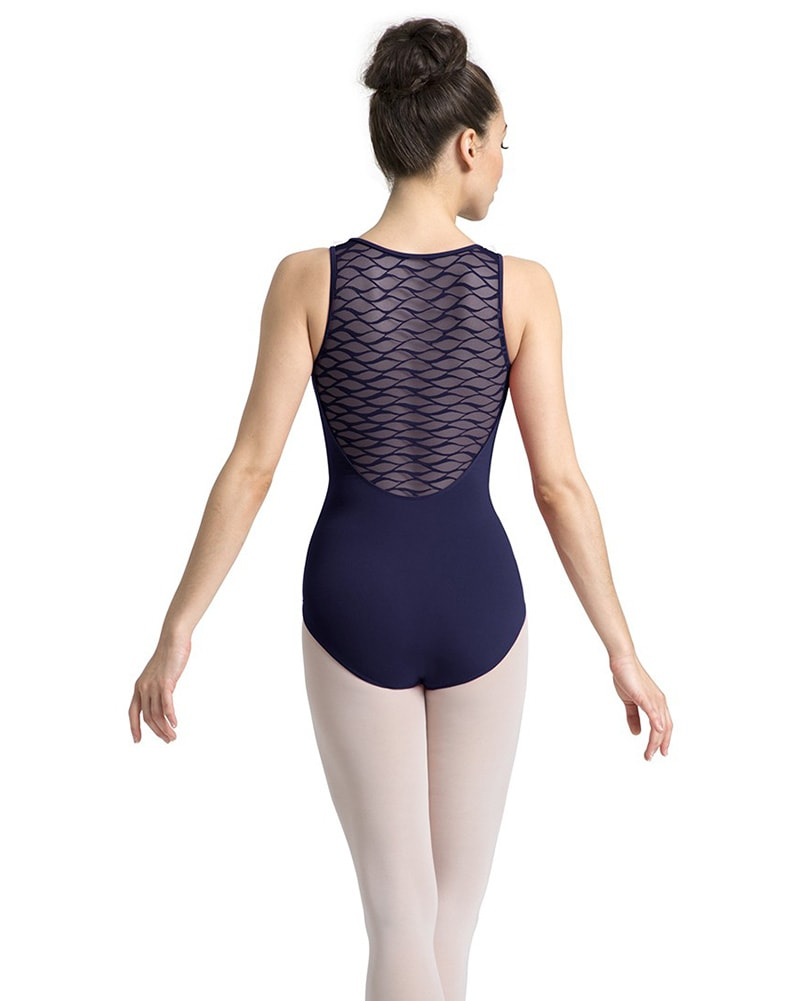 Mirella M3053LM - Limited Edition Wave Mesh Sweetheart Tank Leotard Womens