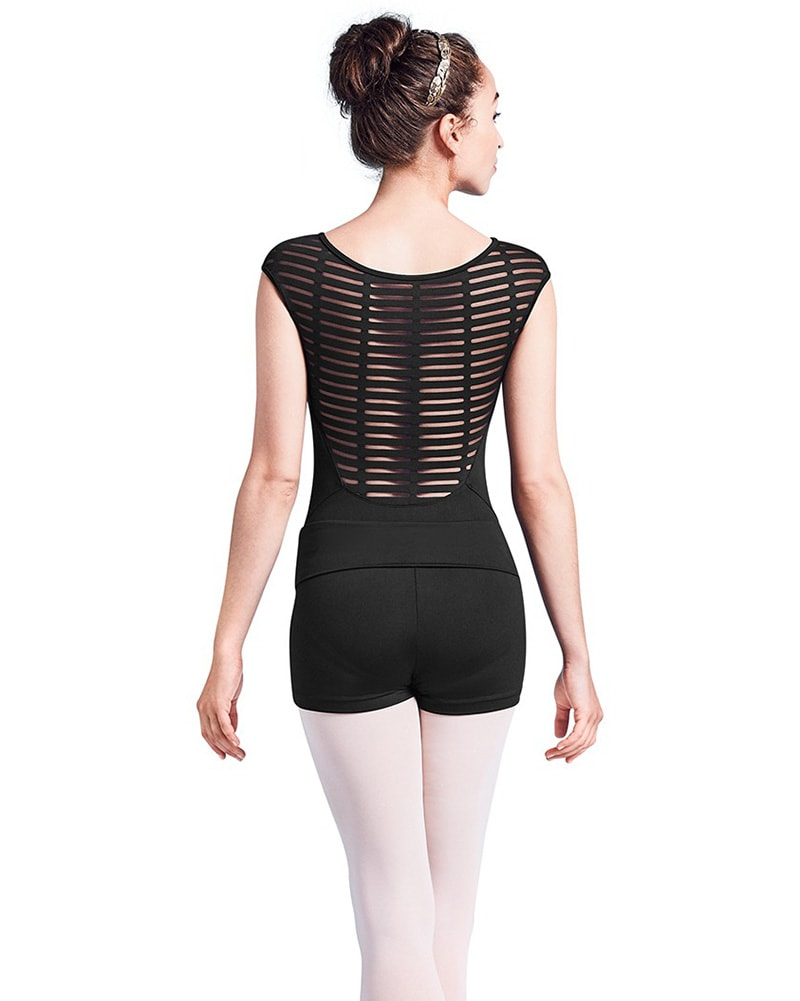 Mirella Sheer Ladder Mesh Back Cap Sleeve Leotard - M5055LM Womens - Dancewear - Bodysuits & Leotards - Dancewear Centre Canada