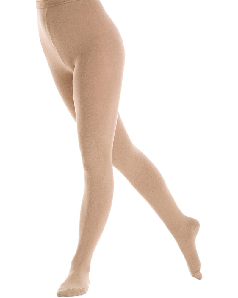 Mondor 3395C - Naturals Ultra Opaque Footed Skating Tights Girls - Dance Tights - Skating Tights - Dancewear Centre Canada