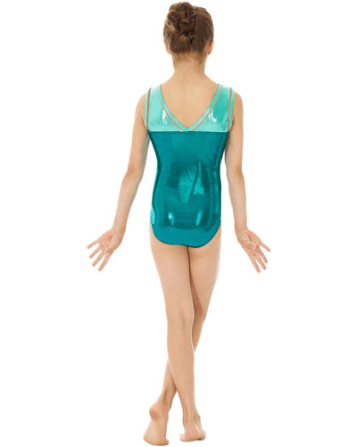 f97b029eb Mondor 7891C - Metallic Toned Gymnastic Tank Leotard Girls ...