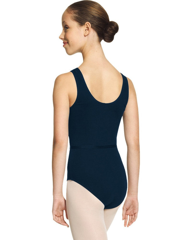 Mondor 1633C - Academy RAD Pinched Front Tank Leotard Girls - Dancewear - Bodysuits & Leotards - Dancewear Centre Canada