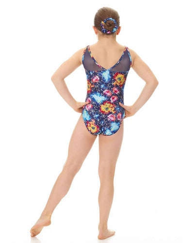 Mondor 17817C - Combination Print Gymnastic Mesh Tank Leotard Girls - Dancewear - Gymnastics - Dancewear Centre Canada