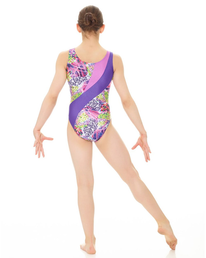 Mondor Combination Print Gymnastic Tank Leotard - 17871C Girls - Dancewear - Gymnastics - Dancewear Centre Canada