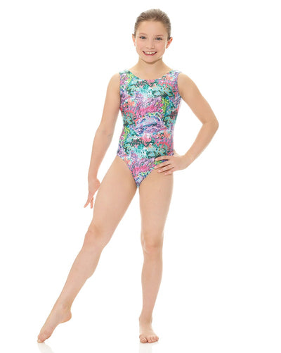 Mondor Metallic Print Gymnastic Tank Leotard - 27822C Girls - Dancewear - Gymnastics - Dancewear Centre Canada