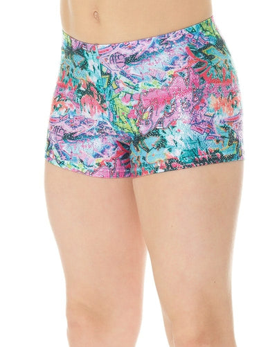 Mondor 27825CP - Pattern Print Gymnastic Shorts Girls - Dancewear - Gymnastics - Dancewear Centre Canada