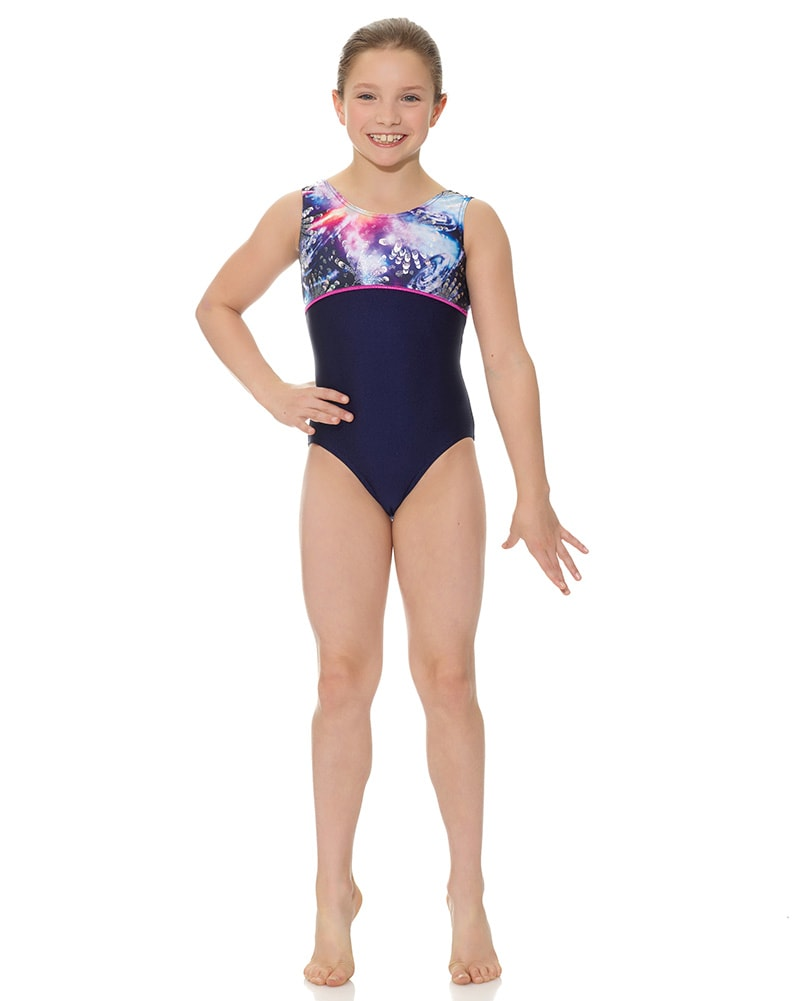 Mondor Combination Print Gymnastic Tank Leotard - 27835C Girls - Dancewear - Gymnastics - Dancewear Centre Canada
