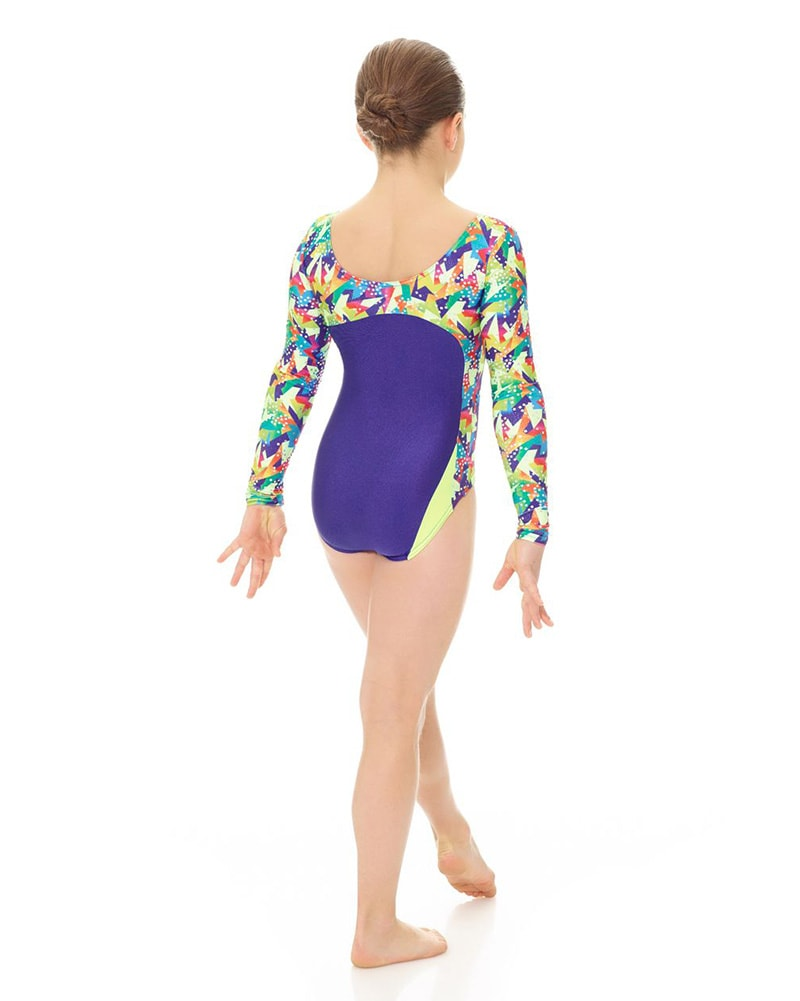 5366e37c2bc3 Mondor 27880C - Printed Gymnastic Long Sleeve Leotard Girls - Dancewear -  Gymnastics - Dancewear Centre