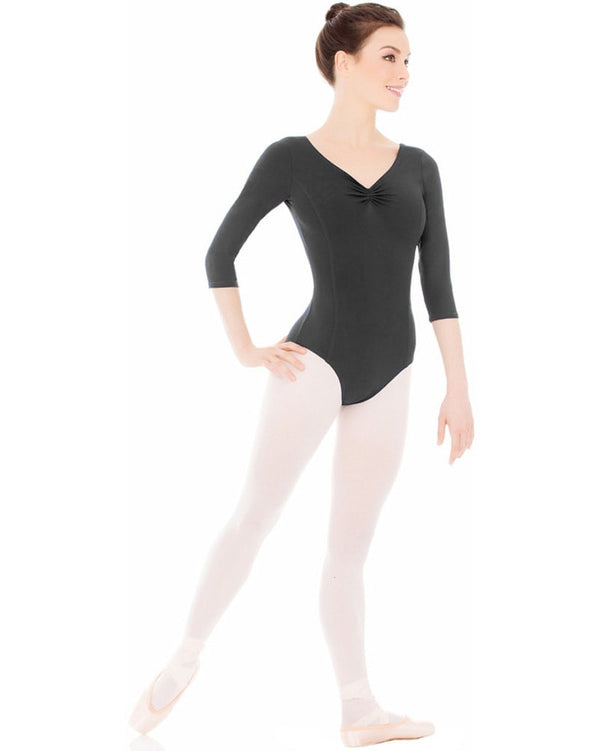 Mondor 3508 - 3/4 Sleeve Dance Matrix Leotard Womens - Dancewear - Bodysuits & Leotards - Dancewear Centre Canada