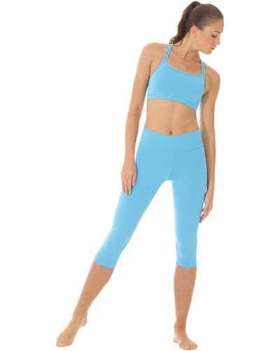 Mondor 3532 - Vinna Wide Waistband Capri Dance Leggings Womens - Dancewear - Dance Pants - Dancewear Centre Canada