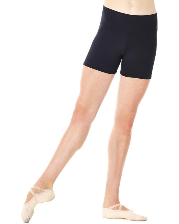 Mondor 3536 - Wide Waistband Dance Shorts Womens - Dancewear - Dance Shorts - Dancewear Centre Canada
