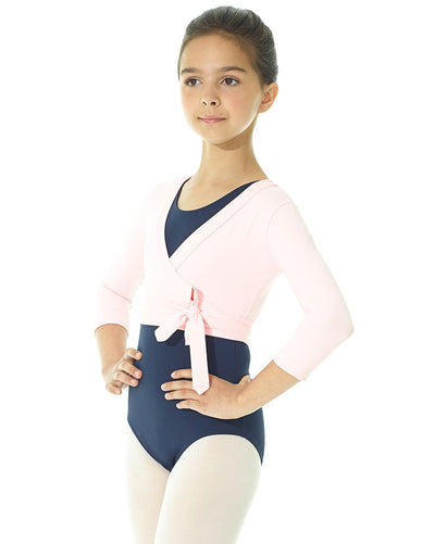 Mondor 3542C - 3/4 Sleeve Wrap Top Girls - Dancewear - Warmups - Dancewear Centre Canada