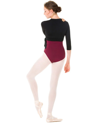 Mondor 3542 - 3/4 Sleeve Wrap Top Womens - Dancewear - Warmups - Dancewear Centre Canada