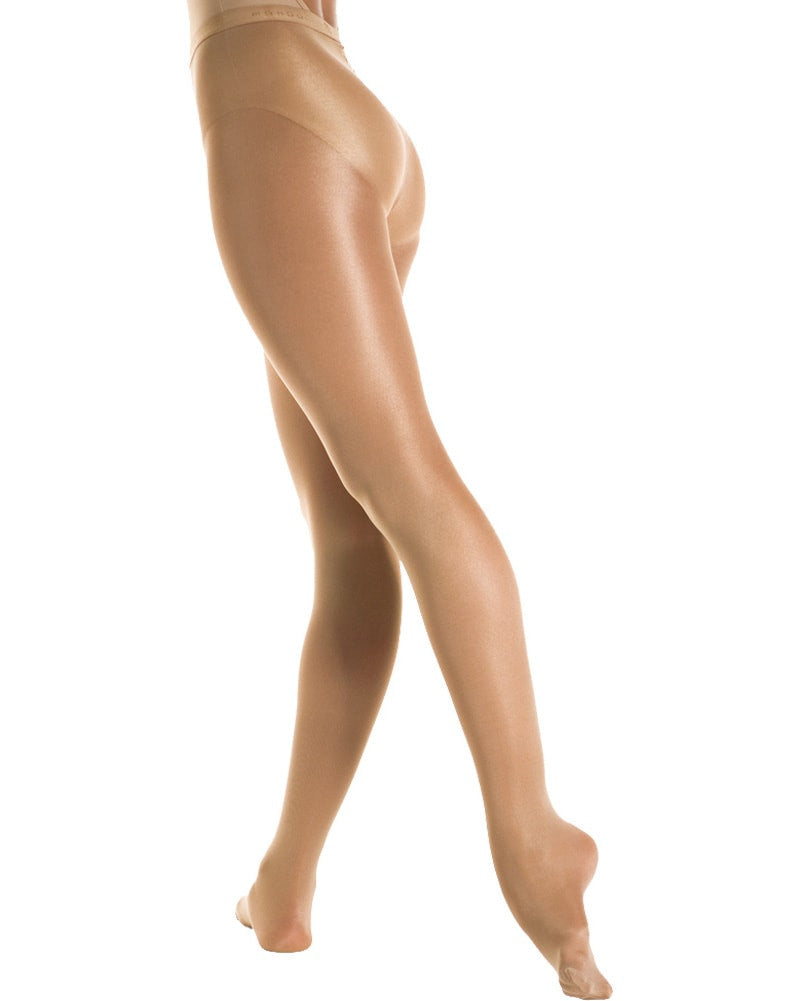 Mondor 358 - Cabaret Shimmery Footed Dance Tights Womens