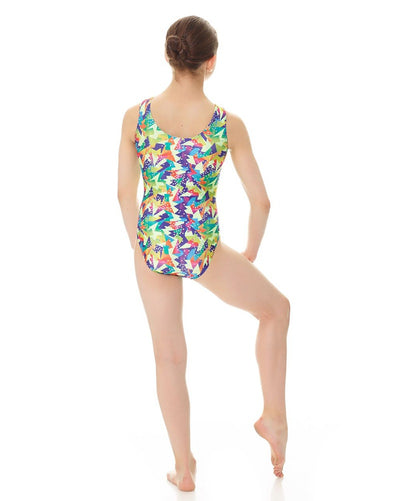 Mondor Abstract Print Gymnastic Tank Leotard - 37822C Girls - Dancewear - Gymnastics - Dancewear Centre Canada