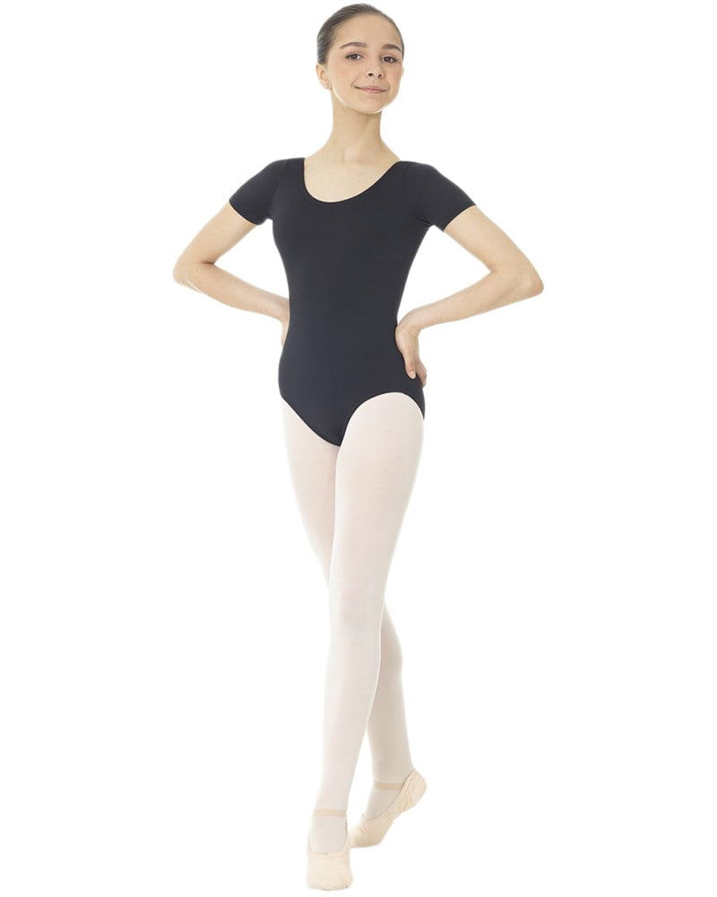Mondor Essentials Classic Cut Short Sleeve Leotard - 40096C Girls - Dancewear - Bodysuits & Leotards - Dancewear Centre Canada