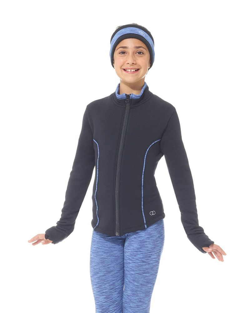Mondor Contrasting Seaming Polartec Warm Up Skating Jacket - 4484C Girls