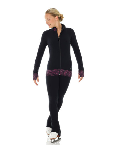 Mondor Contrasting Inserts Polartec Warm Up Skating Jacket - 4486C Girls - Dancewear - Skating - Dancewear Centre Canada
