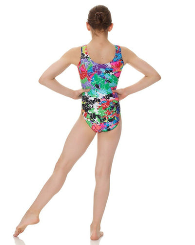 Mondor 7822C - Printed Metallic Gymnastic Tank Leotard Girls - Dancewear - Gymnastics - Dancewear Centre Canada