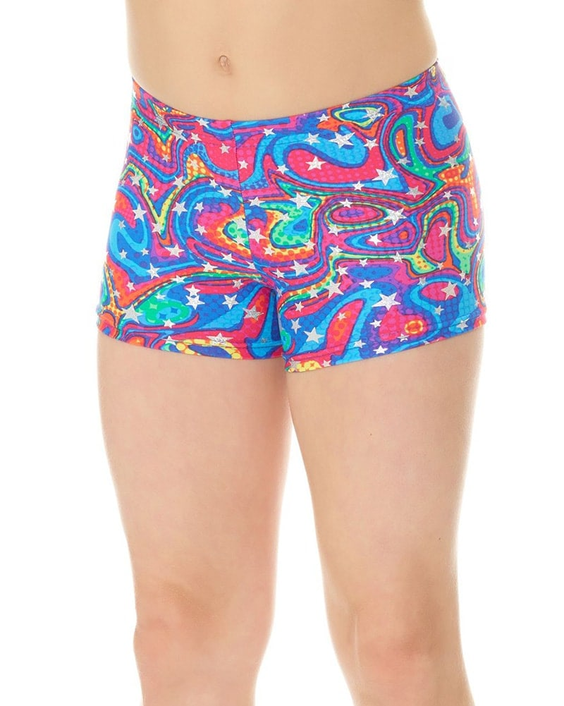 f59f2bb26e90 Mondor 7825CP- Pattern Print Gymnastic Shorts Girls - Dancewear - Gymnastics  - Dancewear Centre Canada